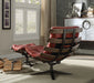 Gandy Antique Red Top Grain Leather Chair & Ottoman (2Pc Pk) image