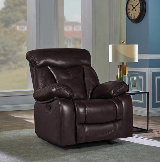 Zimmerman Casual Dark Brown Glider Recliner image