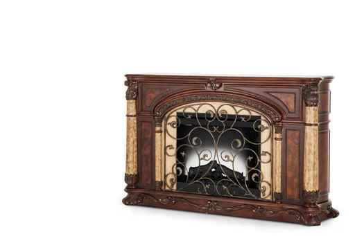 AICO Victoria Palace Fireplace w/ Insert in Light Espresso 61220FPL2-29 image