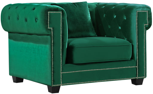Bowery Green Velvet Chair image