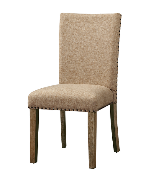 Nathaniel Fabric & Maple Side Chair , Padded Back image