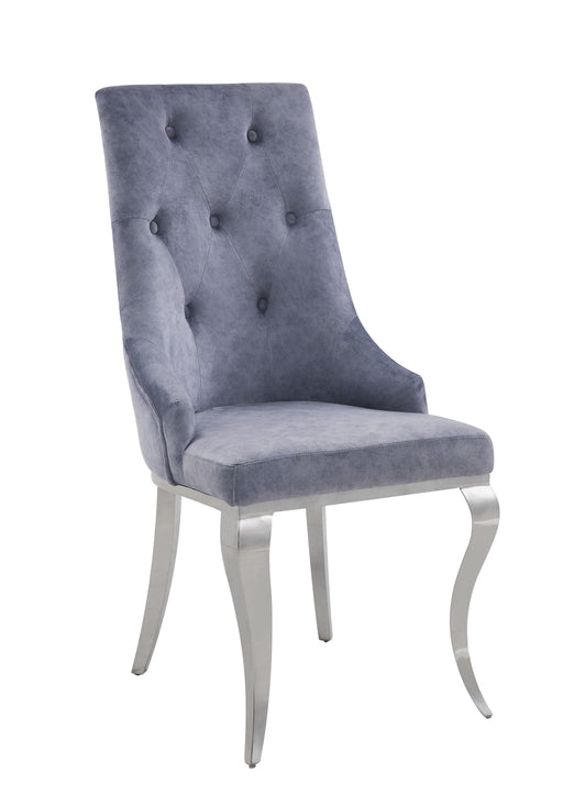 Dekel Gray Fabric & Stainless Steel Side Chair image