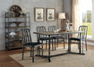 Jodie Rustic Oak & Antique Black Dining Table image