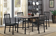 Caitlin Rustic Oak & Black Dining Table image