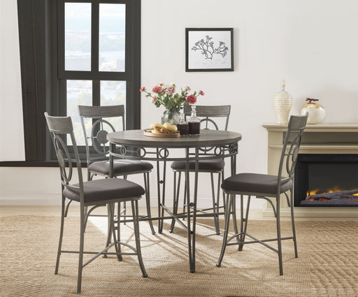 Landis Oak & Gunmetal Counter Height Table image