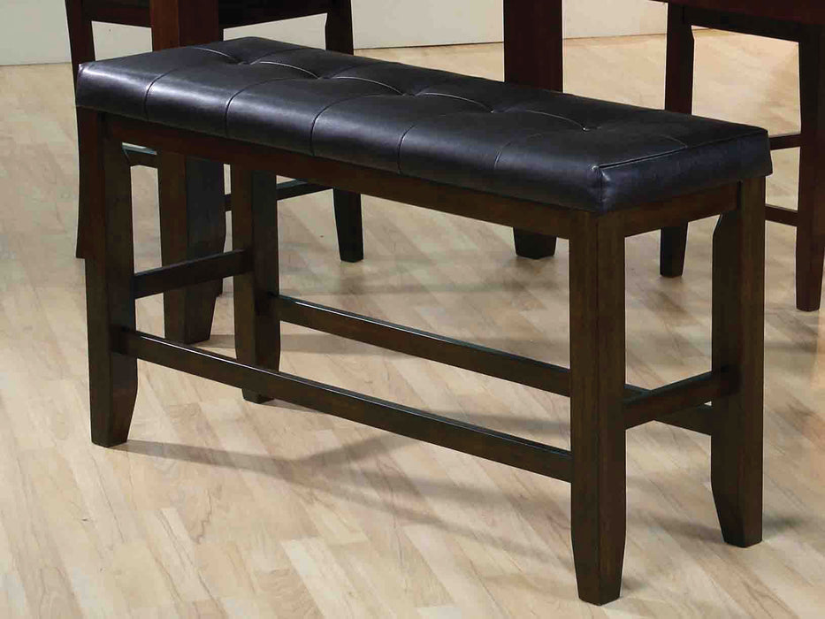 Urbana Black PU & Espresso Counter Height Bench image