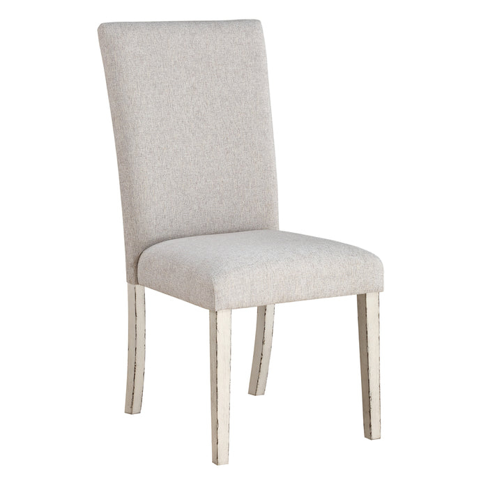 Katet Beige Linen & Antique White Side Chair image