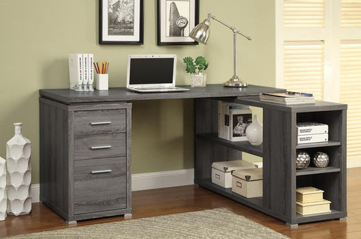 Yvette Weathered Grey Executive Desk image