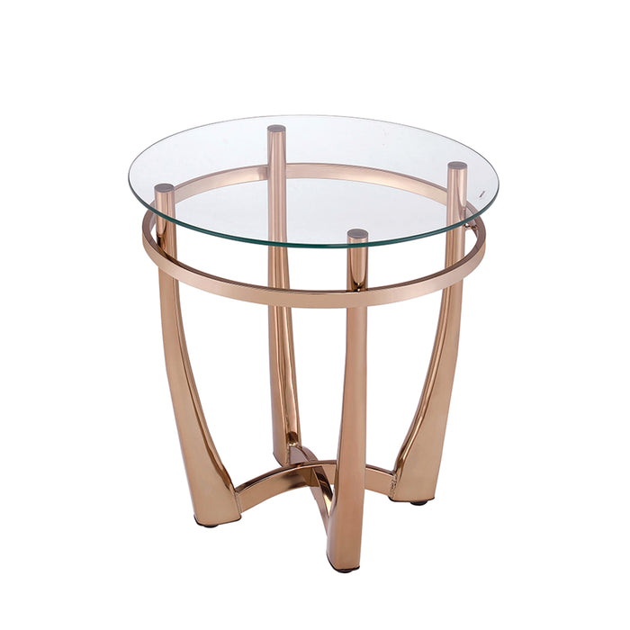 Orlando II Champagne & Clear Glass End Table image