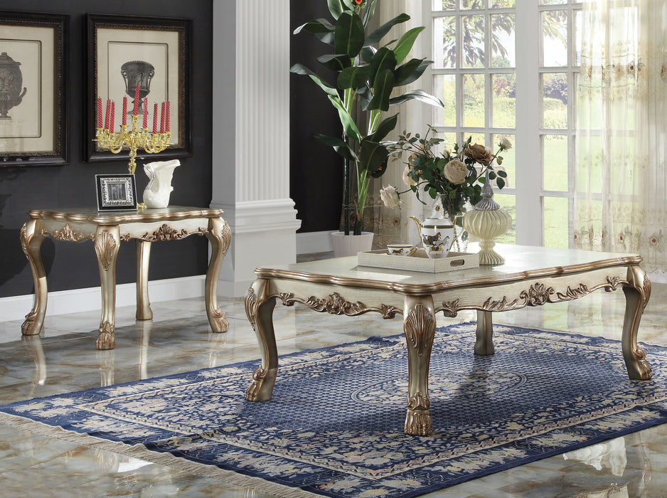 Dresden Gold Patina & Bone Coffee Table image