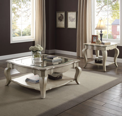 Chelmsford Antique Taupe & Clear Glass Coffee Table image
