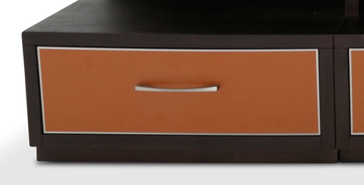 Aico 21 Cosmopolitan Left Entertainment Base in Umber/Orange 9029097BL-812 image