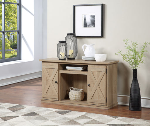 Eladio Natural TV Stand (Optional Fireplace) image