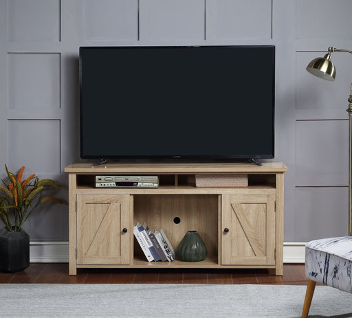 Cordell Natural TV Stand (Optional Fireplace) image