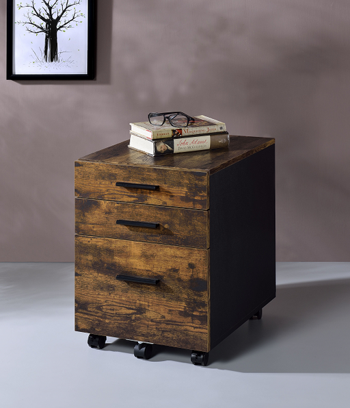 Abner Weathered Oak File Cabinet image