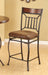 Tavio Fabric & Black w/Gold Brush Counter Height Chair image