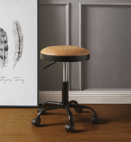 Ouray Vintage Caramel PU & Black Adjustable Stool image