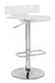 Rania Clear & Chrome Adjustable Stool (1Pc) image