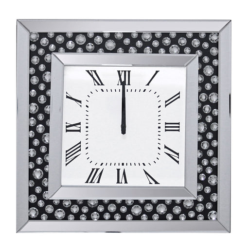 Marku Mirrored & Faux GemStones Wall Clock image