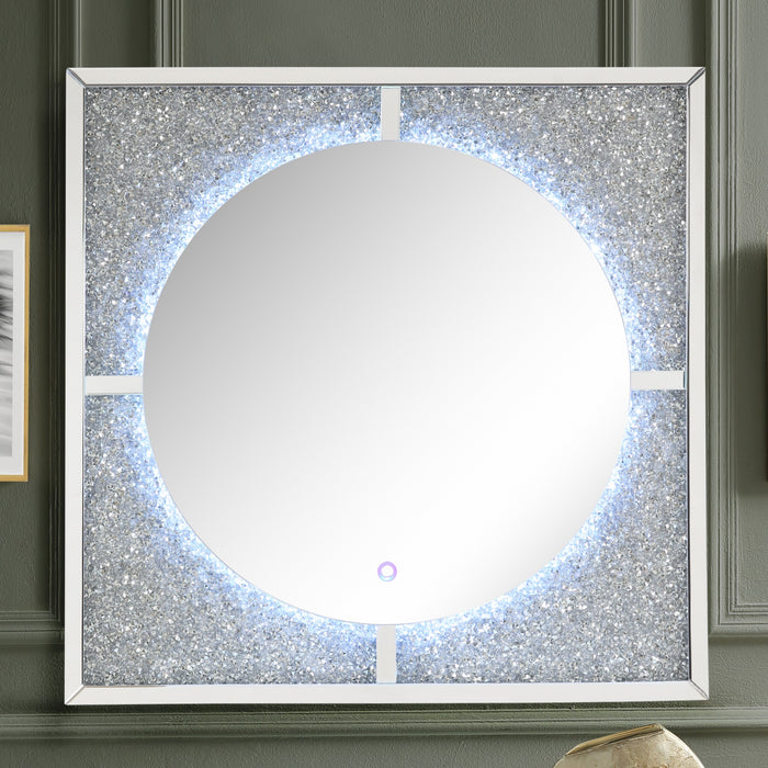 Nowles Mirrored & Faux Stones Wall Decor (LED) image