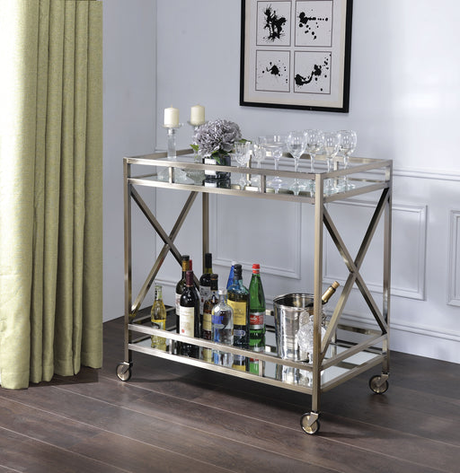 Kristensen Antique Gold & Mirror Serving Cart image