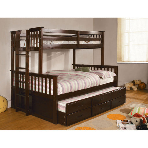 University I Dark Walnut Twin/Full Bunk Bed image