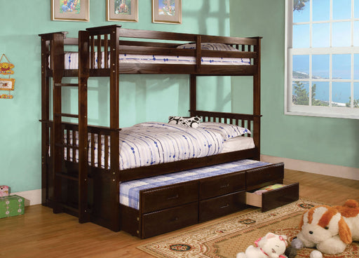 University II Dark Walnut Twin/Twin Bunk Bed image