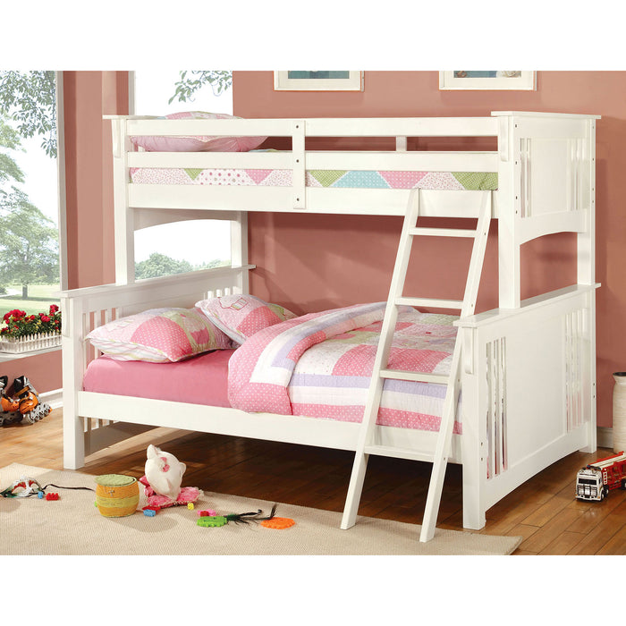 SPRING CREEK White Twin/Full Bunk Bed image