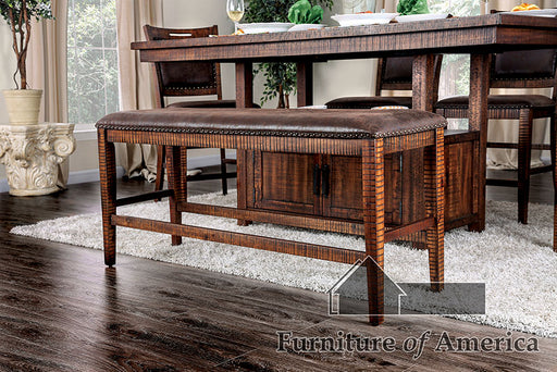 Wichita Light Walnut Counter Ht. Bench image