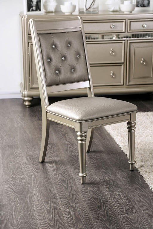 Xandra Champagne Side Chair (2/CTN) image