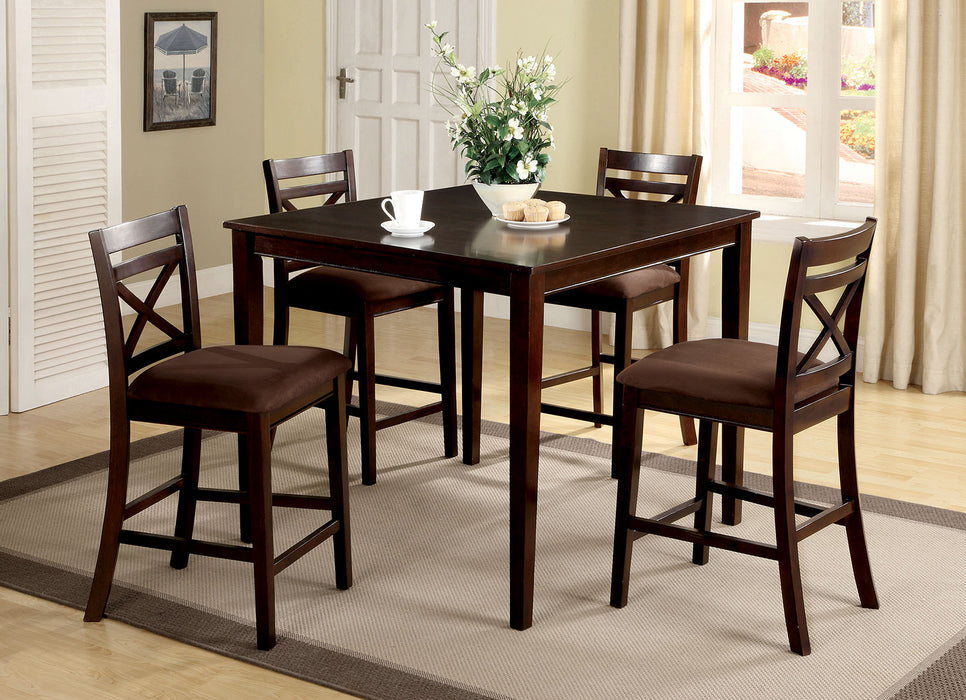 Weston I Espresso 5 Pc. Counter Ht. Table Set image