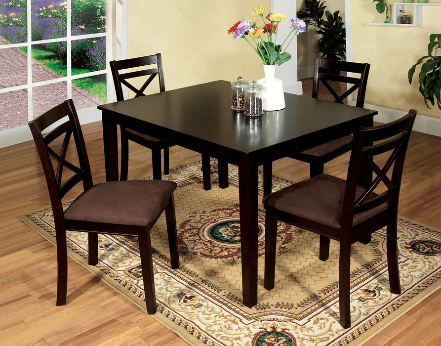 Weston I Espresso 5 Pc. Dining Table Set image