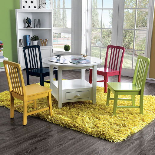 Casey White 5 Pc. Kids Round Table Set image