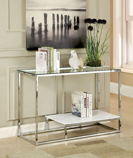 VENDI White/Chrome Sofa Table image