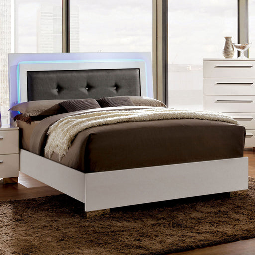 CLEMENTINE Glossy White Full Bed image