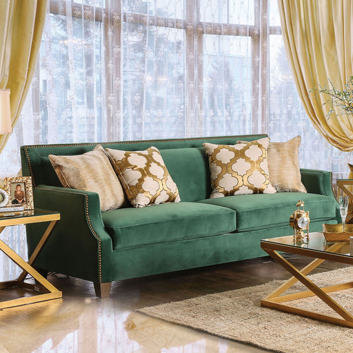 VERDANTE Emerald Green/Gold Sofa image