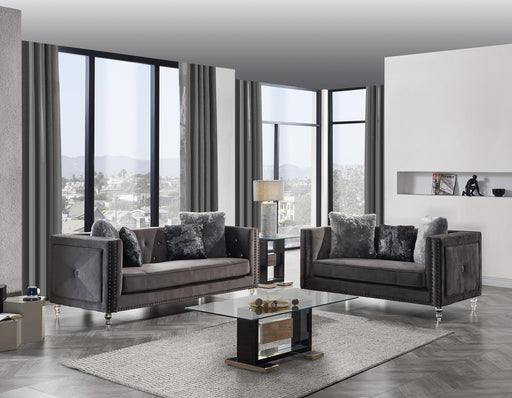 UFM802 SOFA W/AL & 4 PILLOWS (3001-5/ZH8181) DARK GREY (CC-68) / S-006 image