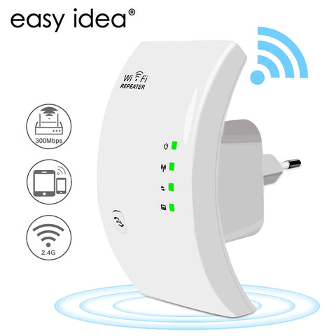EASYIDEA Wireless WIFI Repeater 300Mbps Wifi Extender Long Range Wi fi Signal