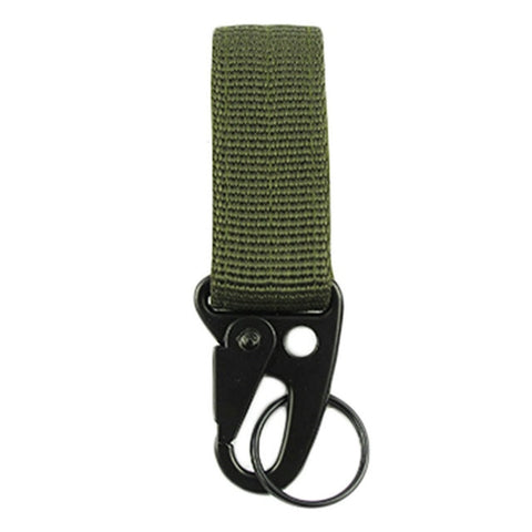 Nylon Tactical Gear Clip Band Carabiner Keychain Hook Belt Webbing