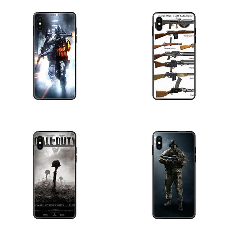 Soft Coque Case Video Game War Soldier Military For Xiaomi Mi Note A1 A2 A3 5 5s 6 8 9 10 SE Lite Pro Ultra