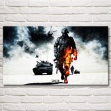 Battlefield Soldier Military Weapon Video Game Art Silk Poster Prints Home Wall Decor Painting 11x20 20x36 24x43 30x54 Inches