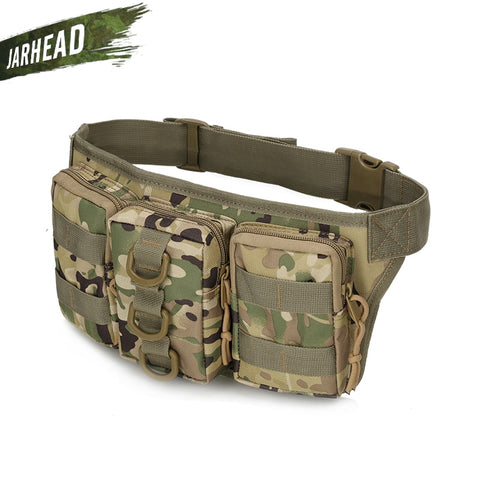 Tactical Waterproof Men Waist Pack Hiking nylon Waist Bag Outdoor Army Military