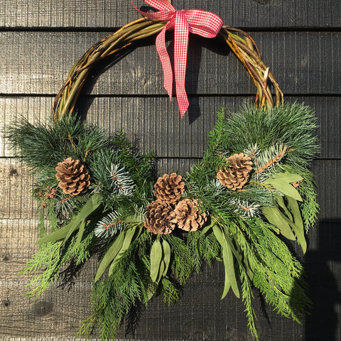 Natural Half Wreath