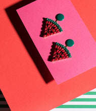 Load image into Gallery viewer, Elsa O Exotic Watermelon Earrings