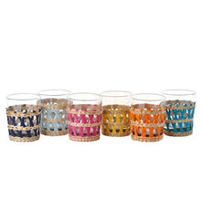 Load image into Gallery viewer, Pols Potten Multicolour Reed Glasses - Set of six