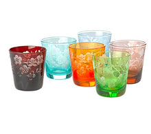 Load image into Gallery viewer, Pols Potten Multicolored Blossom Glasses - Set of six