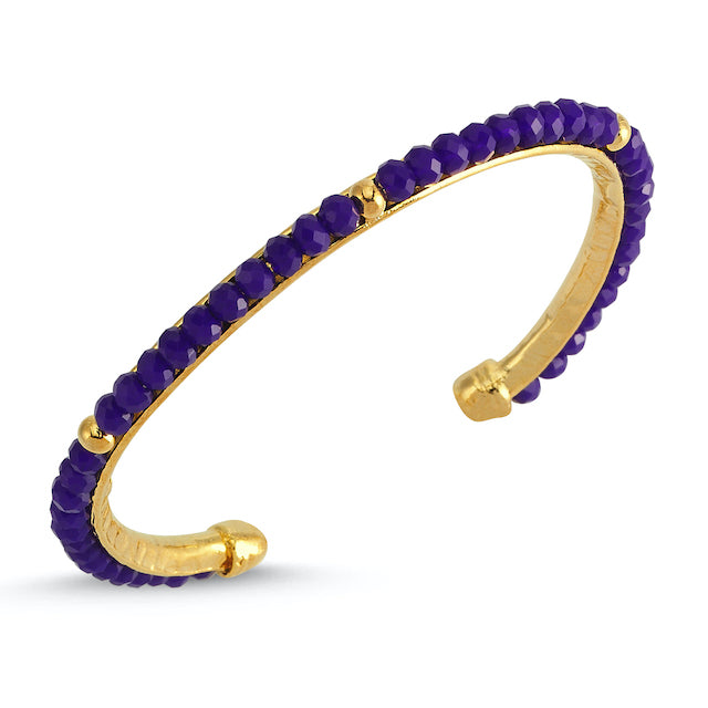 Sup Others Colored Stones Hard Bracelet - Purple