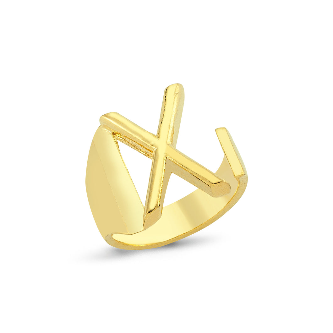 Sup Others Letter Ring - X