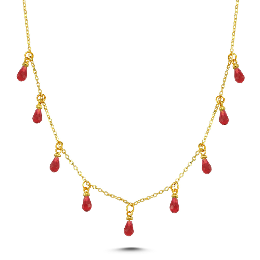 Sup Others Drop Necklace - Red