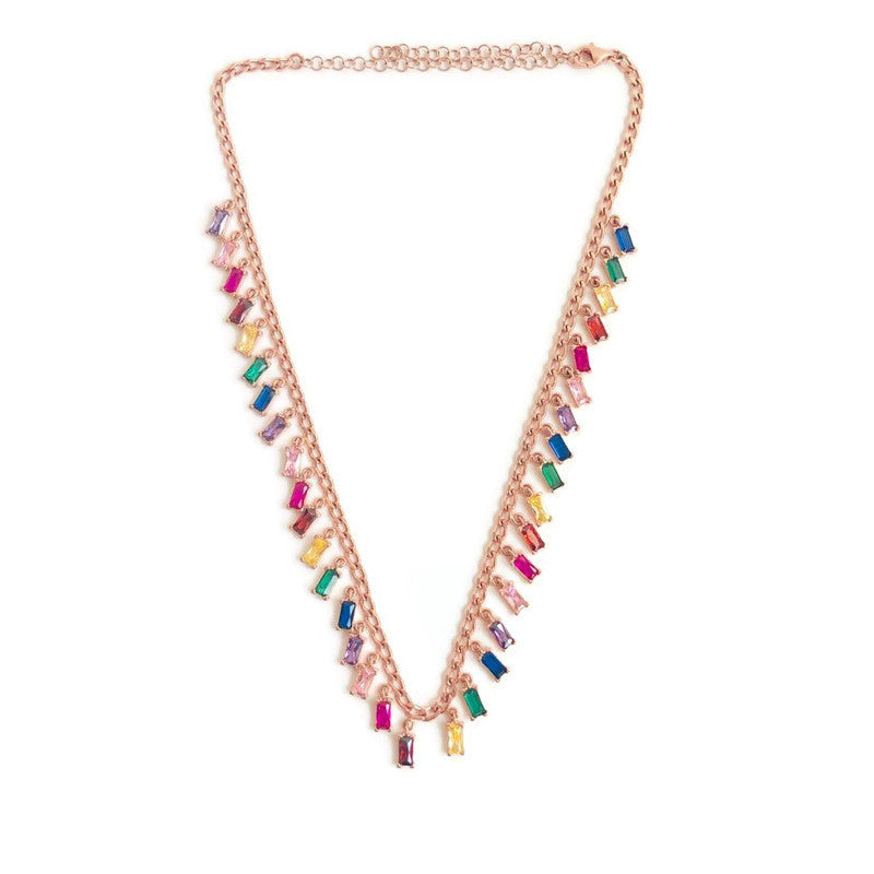 Chato Rainbow Chain Necklace Droplets